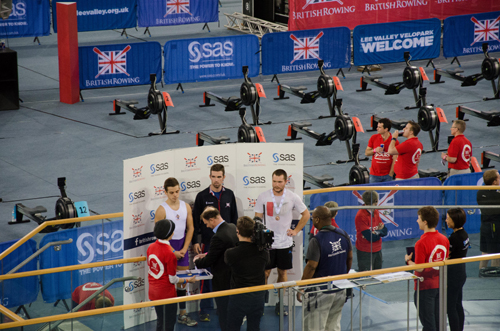 Max Huxtable (right) collects his well-earned Bronze medal
